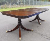 SOLD Georgian Style Mahogany Twin Pillar Dining Table to Seat Ten